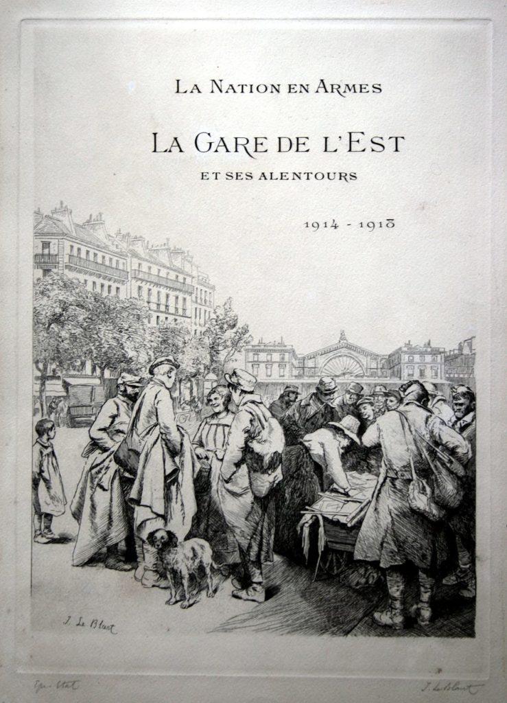 Gare de l'Est, Paris, grande guerre, 14-18