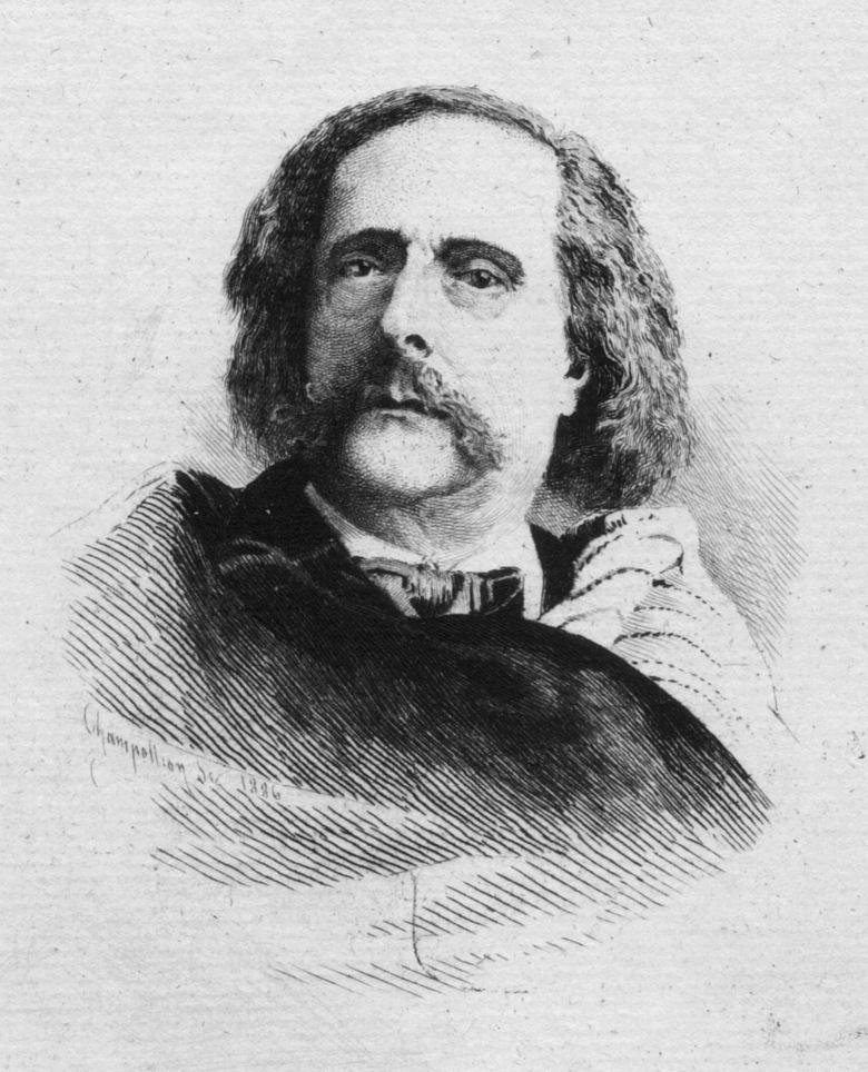Barbey d'Aurevilly, portrait, gravure
