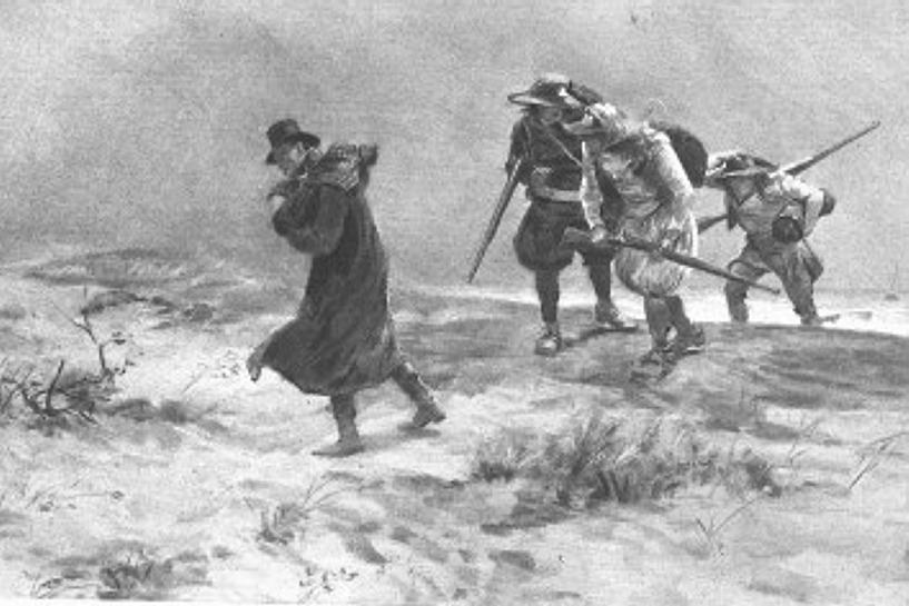 Victor Hugo, Quatrevingt-treize,  dernier roman du romancier, dont l'action se déroule vers 1793.