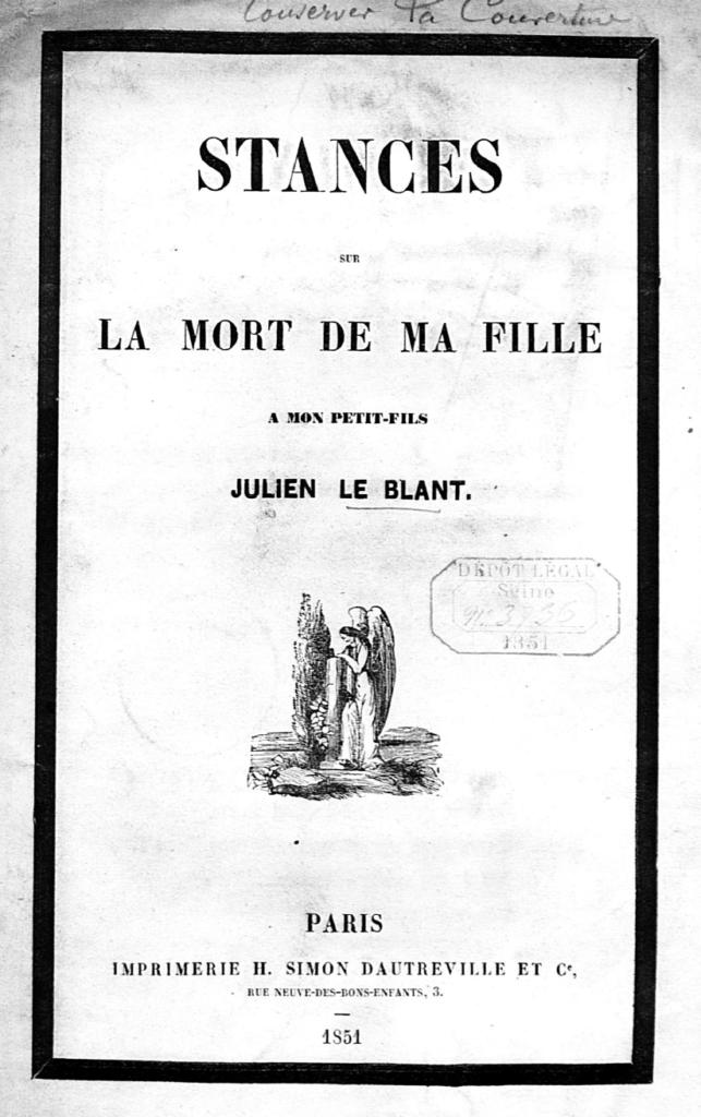 Publication de Louis Lemaire, grand-père de Julien Le Blant, à la naissance de celui-ci.